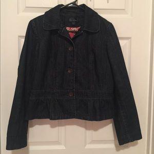 Girls boden denim jean jacket size 14